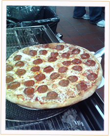 A Large Pepperoni Pizza Pie fresh out of the oven.